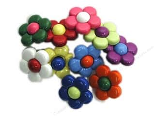Clearance Blumenthal Favorite Findings: Jesse James Embellishments Multi Daisies