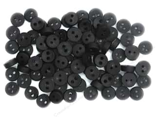 button: Jesse James Embellishments Tiny Black Button