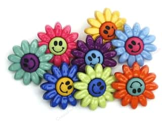 Clearance Blumenthal Favorite Findings: Jesse James Embellishments Button Fun Daisies