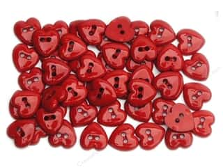 Jesse James Embellishments Button Fun Tiny Hearts