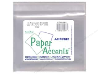 "Clearance Paper Accents Envelopes: Paper Accents Envelope Translucent 4.25""x 5.5"" 25pc Clear"
