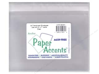 Paper Accents Env Translucent 5x7 25pc Clear
