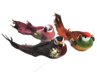 Floral &amp; Garden Accents Sm Bird Astd Color 2.75&quot;