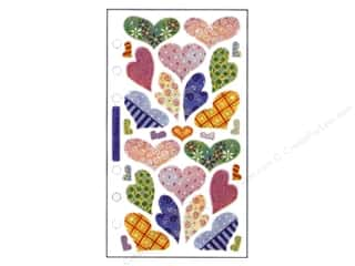 EK Sticko Stickers Vellum Hearts Pastel