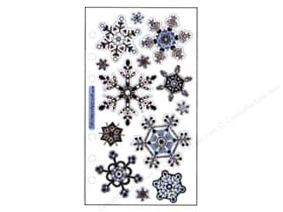 Winter Clear: EK Sticko Stickers Vellum Snowflakes