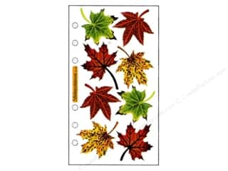 Fall / Thanksgiving paper dimensions: EK Sticko Stickers Vellum Maple Leaves