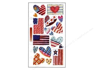 EK Sticko Stickers Vellum Patriotic Hearts