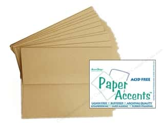 card & envelopes: Paper Accents Card&Env 5x7 Kraft 8pc