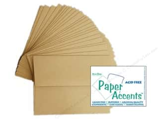 "Cards & Envelopes  5"" x 7"": 5 x 7 in. Envelopes by Paper Accents 25 pc. Kraft - 30% Recycled paper."