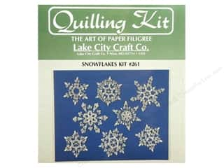 Lake City Crafts Quilling Kit Snowflakes