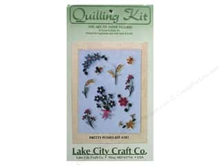 Lake City Crafts Quilling Kit Quick&Easy PrtPosies