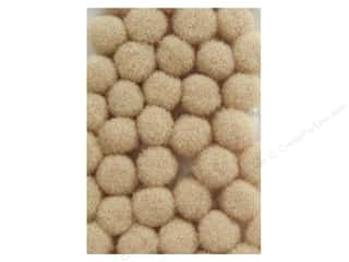 3 mm pom poms: Pom Pom by Accent Design 1/8 in. Beige 40pc. (3 packages)