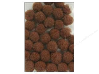 Pom Pom by Accent Design 3/8 in. Brown 100pc.