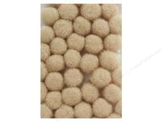 Pom Pom by Accent Design 3/8 in. Beige 100pc.