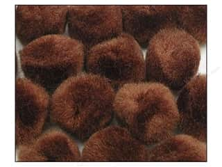"1/2"" pom poms: Pom Pom by Accent Design 1/2 in. Brown 100pc."