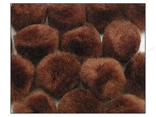 "1"" pom poms: Pom Pom by Accent Design 1 in. Brown 100pc."
