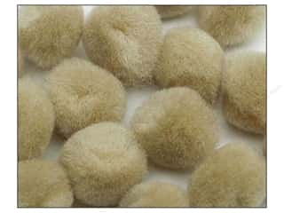 Pom Poms: Pom Pom by Accent Design 1 in. Beige 100pc.