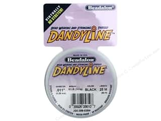 Beadalon Dandyline Thread 0.28mm Black 82 ft.