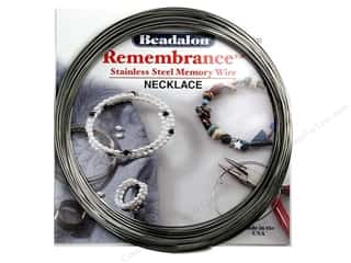 beadalon steel wire: Beadalon Memory Wire Necklace Bright 1 oz.