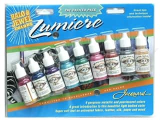 Clearance Art Institute Glitter 1oz Glass Shards: Jacquard Paint Exciter Pk Lumiere Halo&Jewel Clr