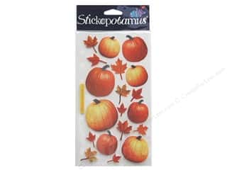 Autumn Leaves Papers: EK Sticko Stickers Autumn Pumpkins