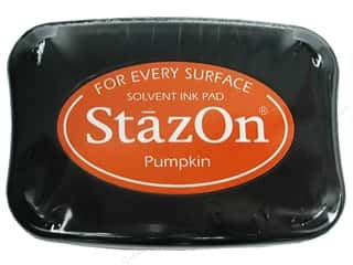 Shoulder Pads $4 - $5: Tsukineko StazOn Large Solvent Ink Stamp Pad Pumpkin