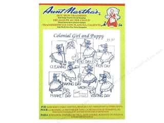 Aunt Martha&#39;s Hot Transfer Blue Colonial Girl