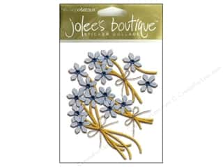 Jolee's Boutique Stickers Simple Flowers Jeweled Blue