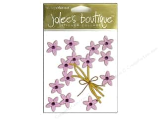 Jolee's Boutique Stickers Simple Flowers Jeweled Violet