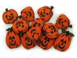 Sew-on Buttons: Jesse James Embellishments Jack O' Lanterns