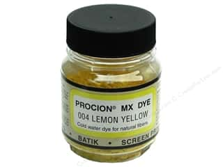 dye: Jacquard Procion MX Dye 2/3 oz. Lemon Yellow