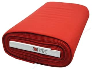 "national nonwovens felt: National NW WoolFelt  36"" Bolt Red (10 yards)"