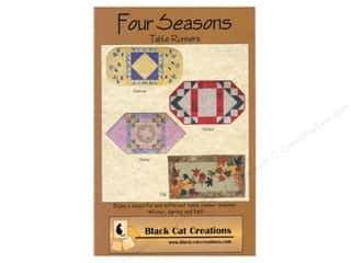 Fall / Thanksgiving $18 - $51: Black Cat Creations Four Seasons Table Runners Pattern
