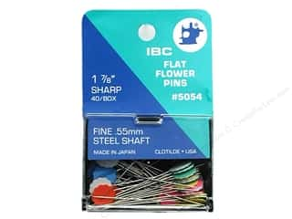 "Clotilde IBC Flat Flower Pins 1 7/8"" 40 pc"