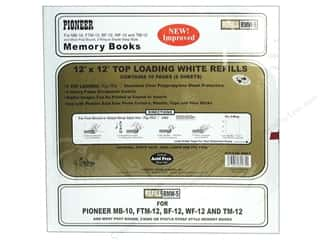 "Pioneer Photo Album Inc $18 - $27: Pioneer Refill Page Memory 12""x 12"" White"