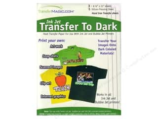 Bubble Jet: TransferMagic.com Ink Jet Transfer Paper  To Dark 3 pc