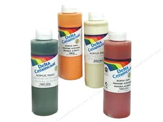 Clearance Art Institute Glitter 1oz Glass Shards: Ceramcoat Acrylic Paint by Delta 8 oz.