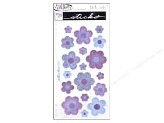 EK Sticko Stickers Vellum Flower Purple/Blue