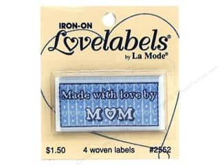 Love & Romance Blumenthal Iron-On Lovelabels: Blumenthal Iron-On Lovelabels 4 pc. Made with Love by Mom