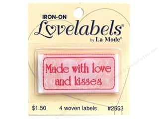 Blumenthal Quilting: Blumenthal Lovelabels 4 pc. Made with Love & Kisses