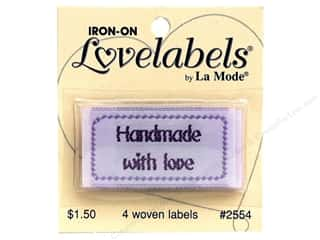 Captions Sewing & Quilting: Blumenthal Iron-On Lovelabels 4 pc. Handmade with Love