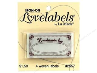 Love & Romance: Blumenthal Iron-On Lovelabels 4 pc. Handmade By