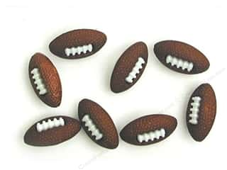 Craft Embellishments Size Metric: Jesse James Dress It Up Embellishments Button Fun Footballs