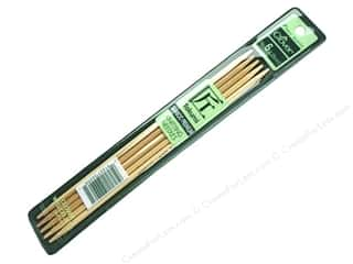 Clover Knitting needle: Clover Bamboo Knitting Needle Double Point 7 in. Size 6
