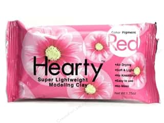 Heather French Patterns: Hearty Lightweight Modeling Clay 1.75 oz Red (3 packages)