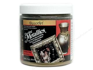 Decoart Paints: DecoArt Dazzling Metallics Paint 8oz Glorious Gold