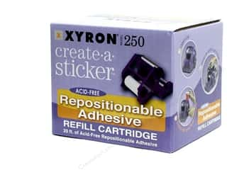 Xyron Glues/Adhesives: Xyron 2 1/2 in. Create-A-Sticker Repositionable Refill 20 ft.