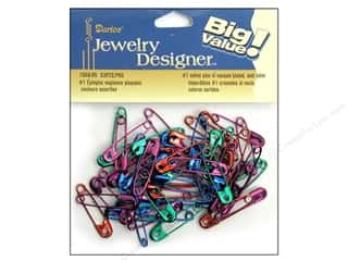 Darice Jewelry Designer Safety Pins #1 Colors 53pc