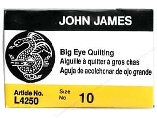 John James Milliner Needles: John James Needle Quilt Big Eye 25pc Size 10