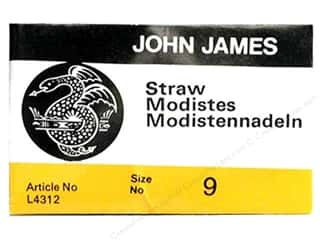John James Hand Sharp Needles: John James Needle Milliners/Straw 25 pc Size 9 (2 packages)